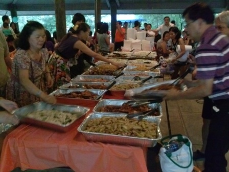A Chinese community feast
