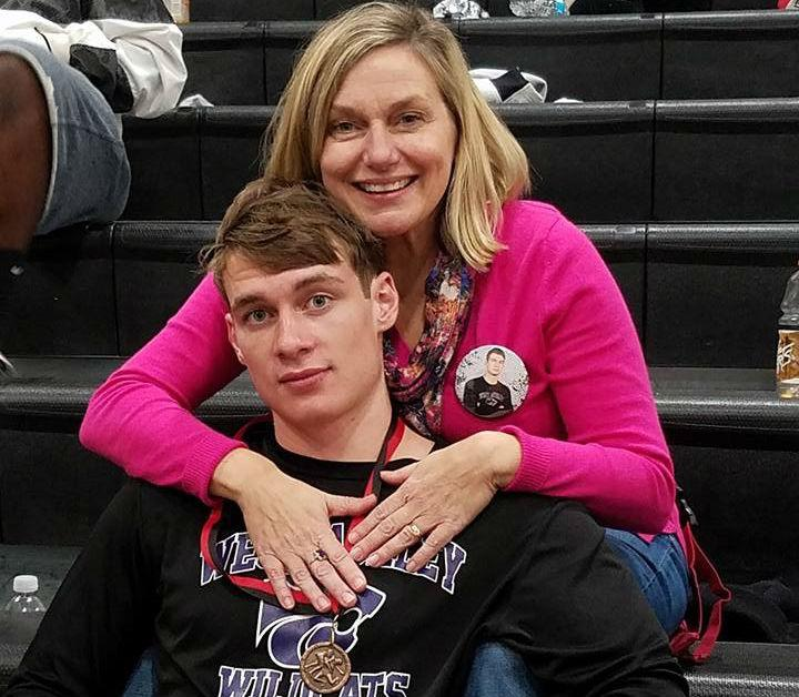 Mrs Lankford and her son Harrison, a senior at West Ashley