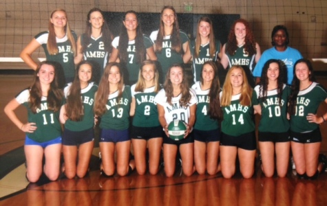 The (almost) undefeated AMHS girls varsity volleyball team
