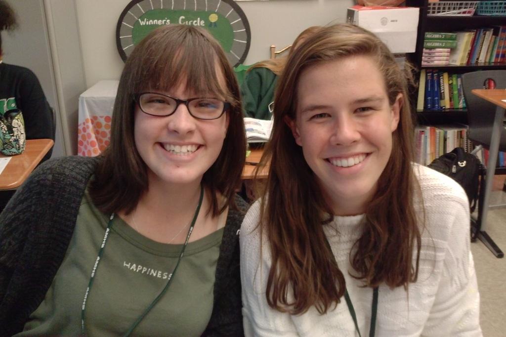 Freshmen Lila (left) and Meredith (right) enjoyed Spirit Week!