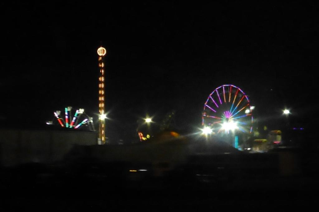 A night view of the fair
