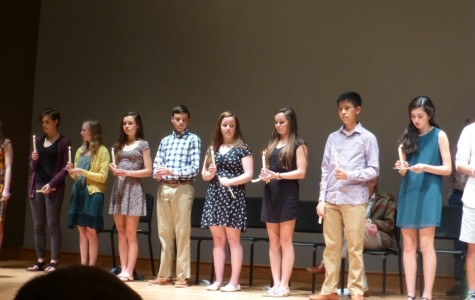 18 AMHS Students Inducted to French National Honor Society