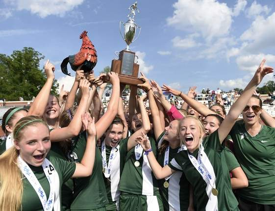 Girls' Soccer Celebrates their 3-Peat