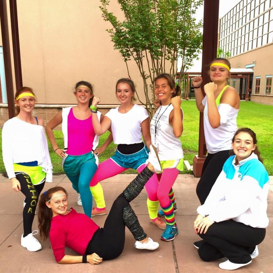 Seniors displaying their fabulous workout attire