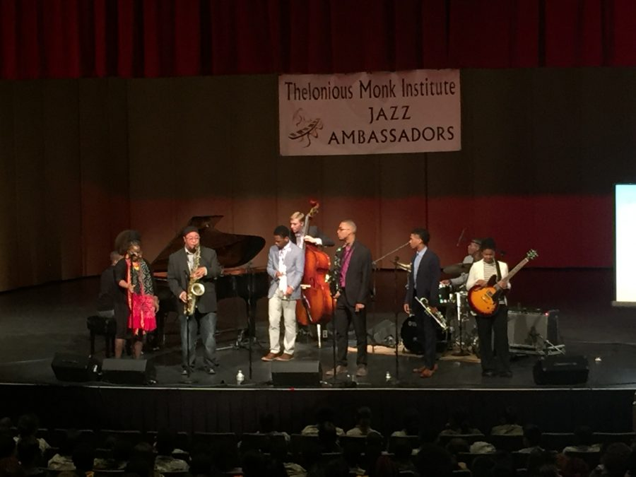 The Thelonious Monk Institute of Jazz performs for AMHS, SOA, Military Magnet, and Burke High School.