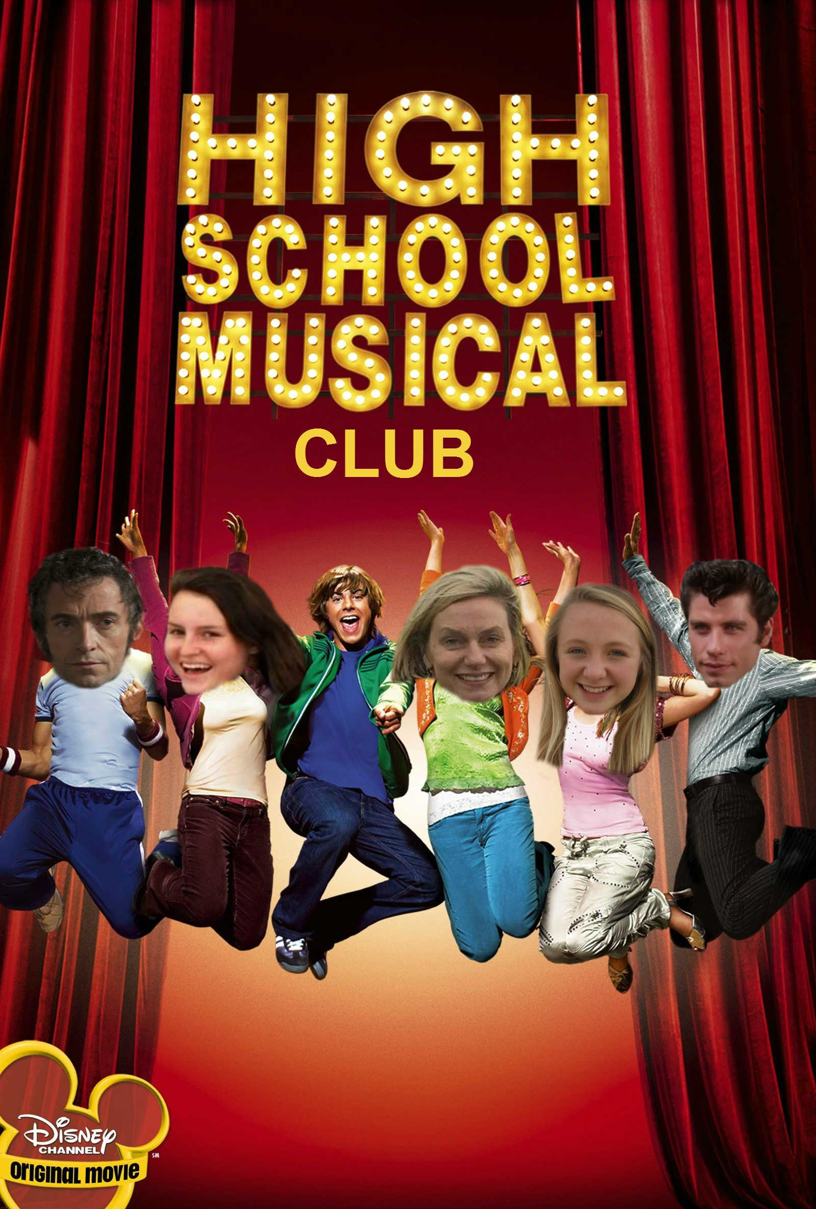 From left to right: Jean Valjean, Maggie Winters, Troy Bolton, Mrs. Lankford, Natasha Tirpak, Danny