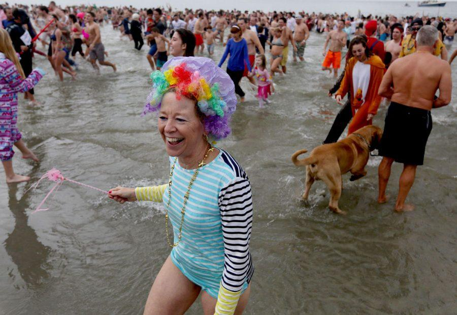 Hundreds bear the cold at this years Polar Bear Plunge