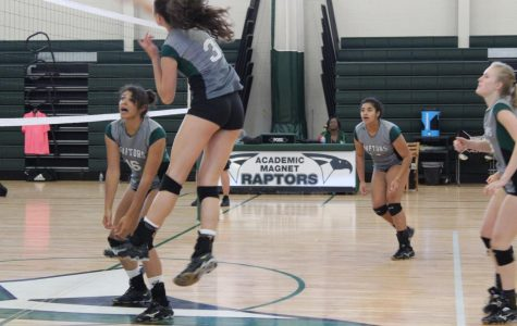 Volleyball against Woodland
