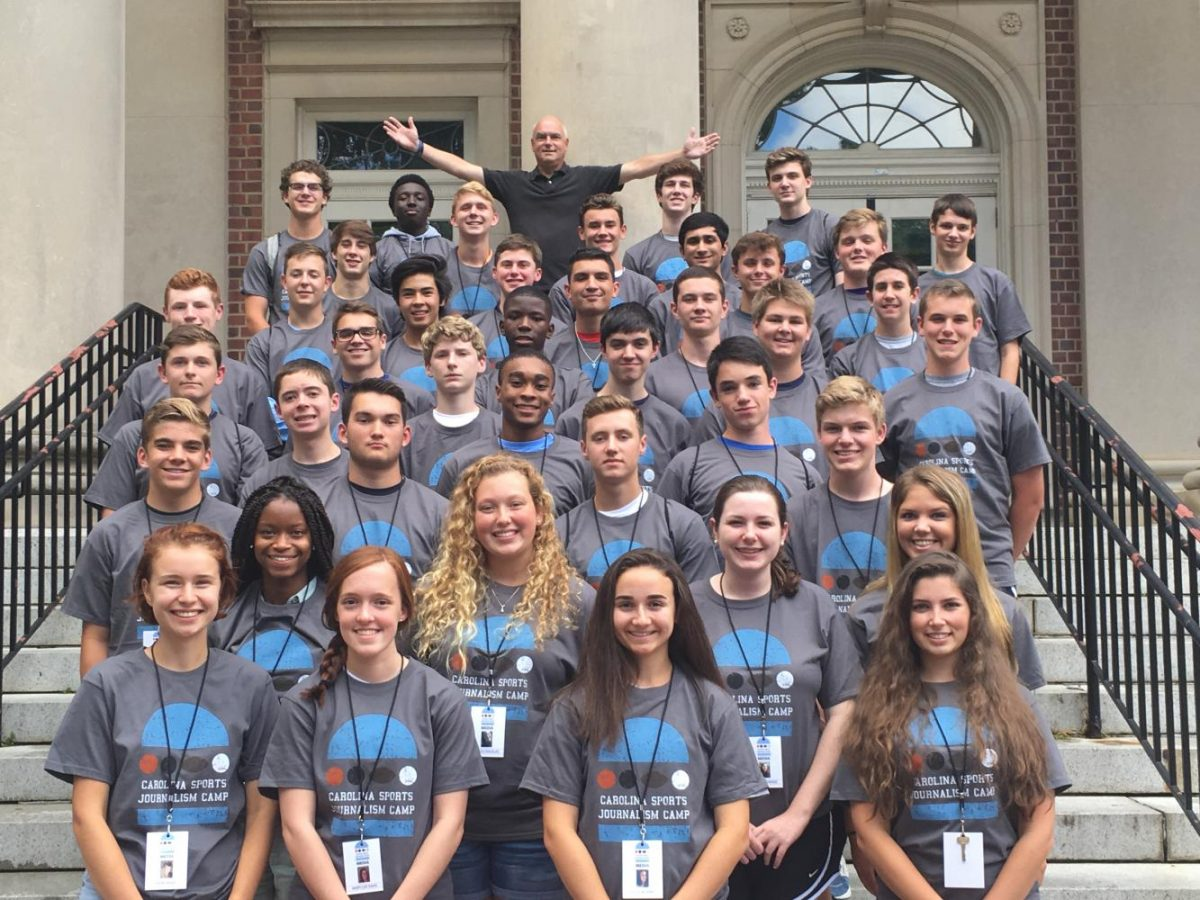 UNC Sports Journalism Camp attendees 2017.