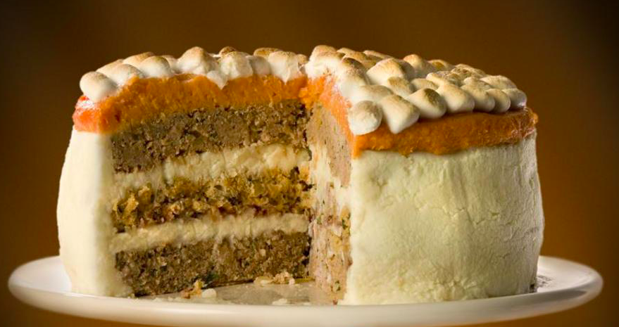 While it may look like Carrot Cake, this is in fact the infamous Turkey Cake.