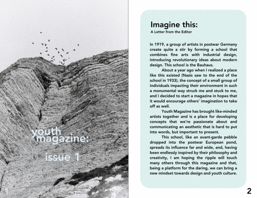 The+front+cover+of+the+first+issue+and+a+letter+from+the+editor%2C+Evelyn+Bi.
