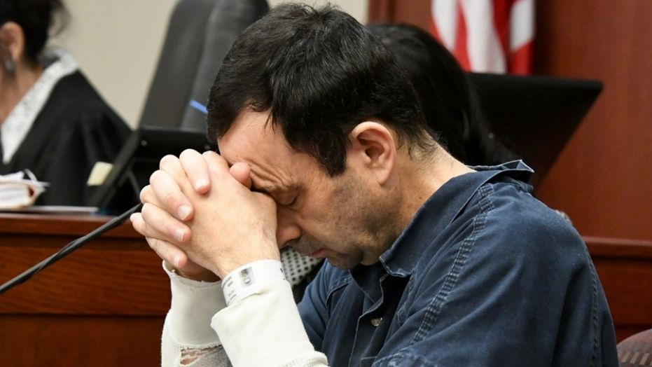 Larry Nassar's reaction listening to the victims' statements