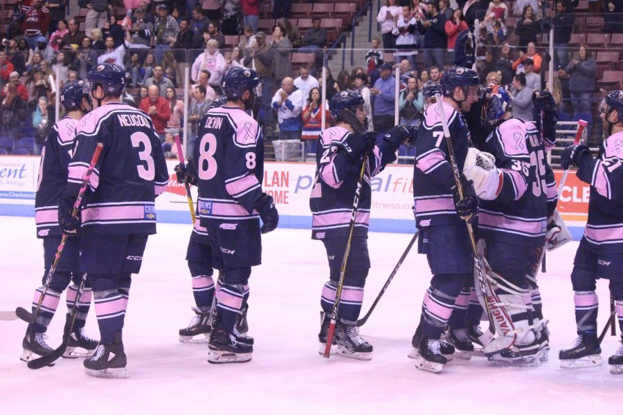The Rays won big on Pink in the Rink night.
