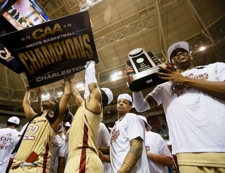CofC+celebrates+first+trip+to+NCAA+Tournament+since+1999