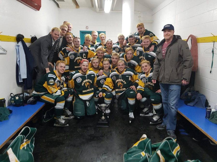 The Humboldt Broncos and their coaches.
