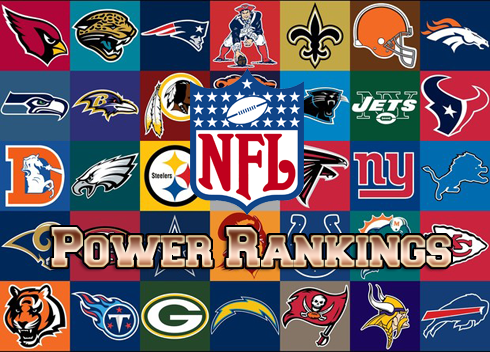 Power Rankings for all 32 NFL Teams