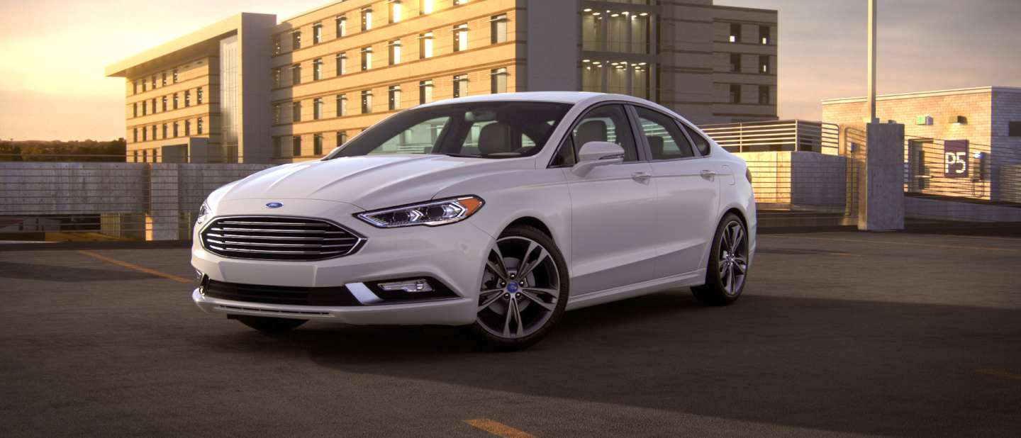 The new Ford Fusion, one of the cars being phased out.
