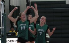 Varsity Volleyball Wins Game Against First Baptist