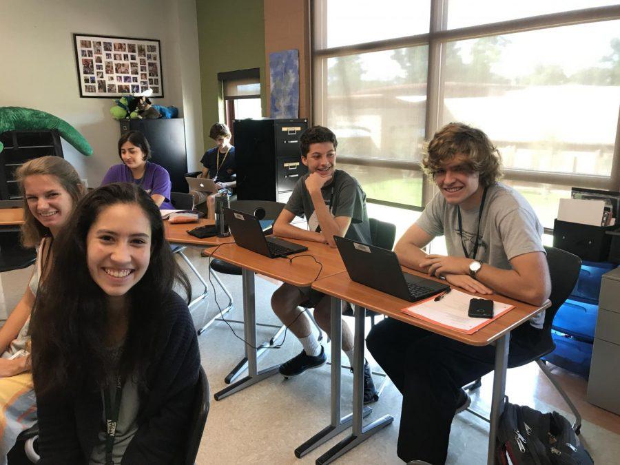 AMHS students celebrating National Merit Scholarship Semifinalists.