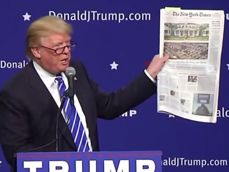 Trump has often been critical of the media, specifically outlets such as CNN and The New York Times. (Picture Source: Business Insider)