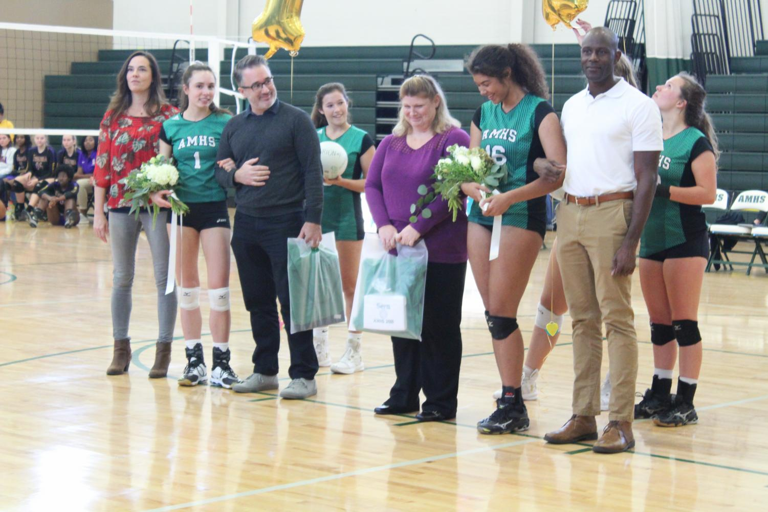 Senior night honored Rion Brown and Sera Cole.