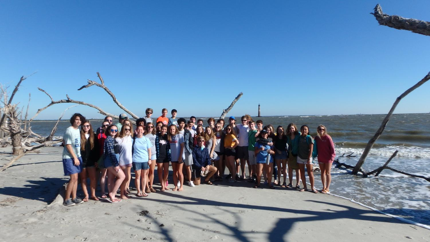 The seniors in Marine Biology took a trip to Folly Beach last Friday!