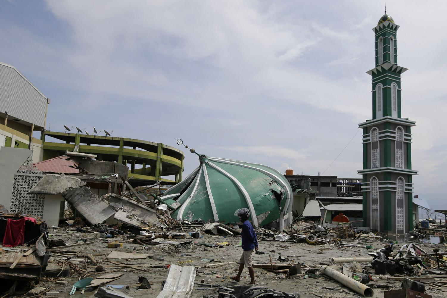 The aftermath of the earthquake and tsunami that struck Indonesia (photo courtesy of AccuWeather).
