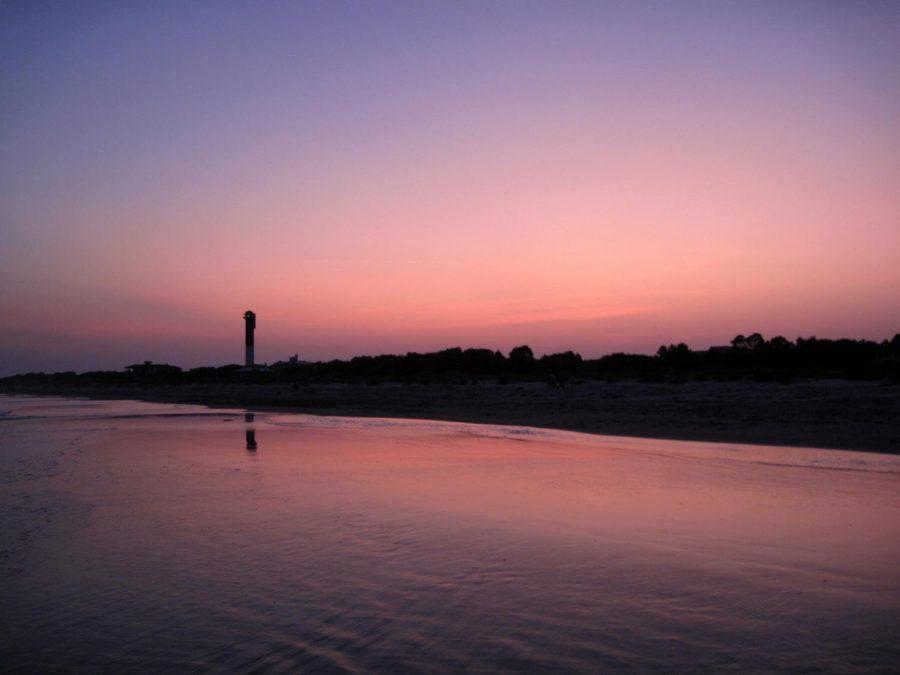 Sullivan%27s+Island+beach+at+sunset