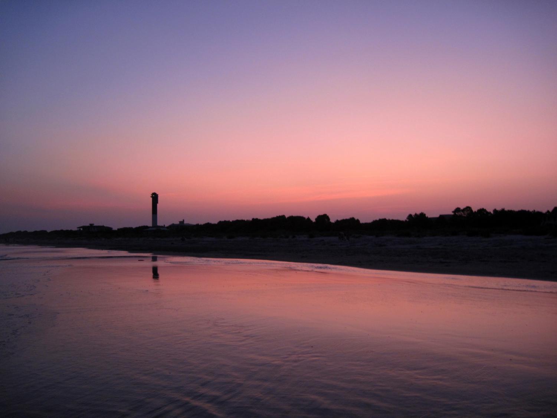 Sullivan's Island beach at sunset