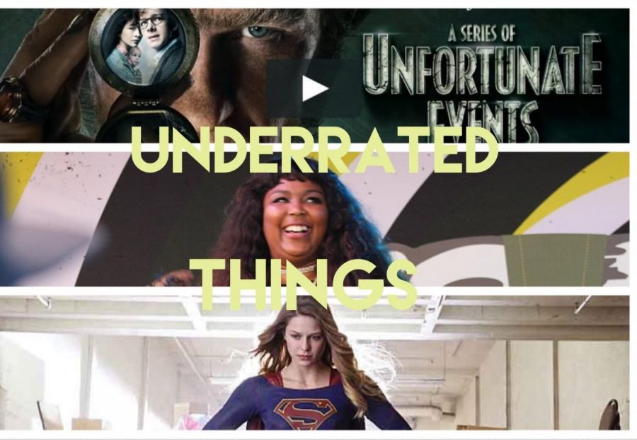 3 shows/artists that will be mentioned in the article, including A Series of Unfortunate Events (top), Lizzo (middle), and Supergirl (bottom)