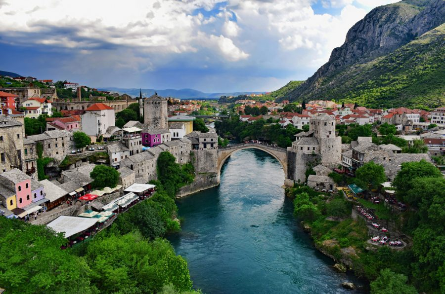 The+skyline+of+Mostar+is+one+of+the+most+iconic+AND+picturesque+scenes+of+the+Balkan+Peninsula