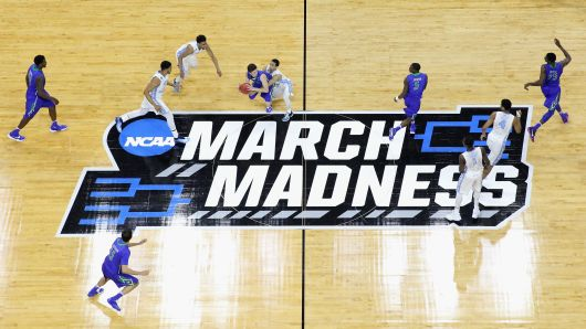 Two Teams Face off During the NCAA Tournament