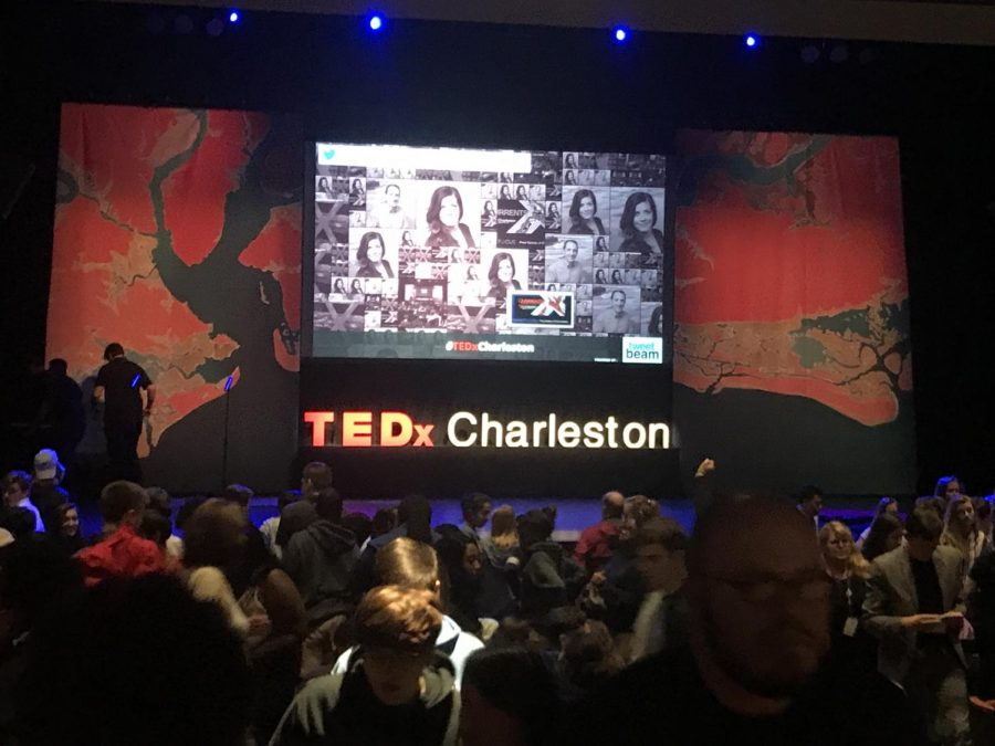The+Charleston+Music+Hall+set+up+for+Charleston%27s+annual+TEDx+event.+Theme%3A+Currents