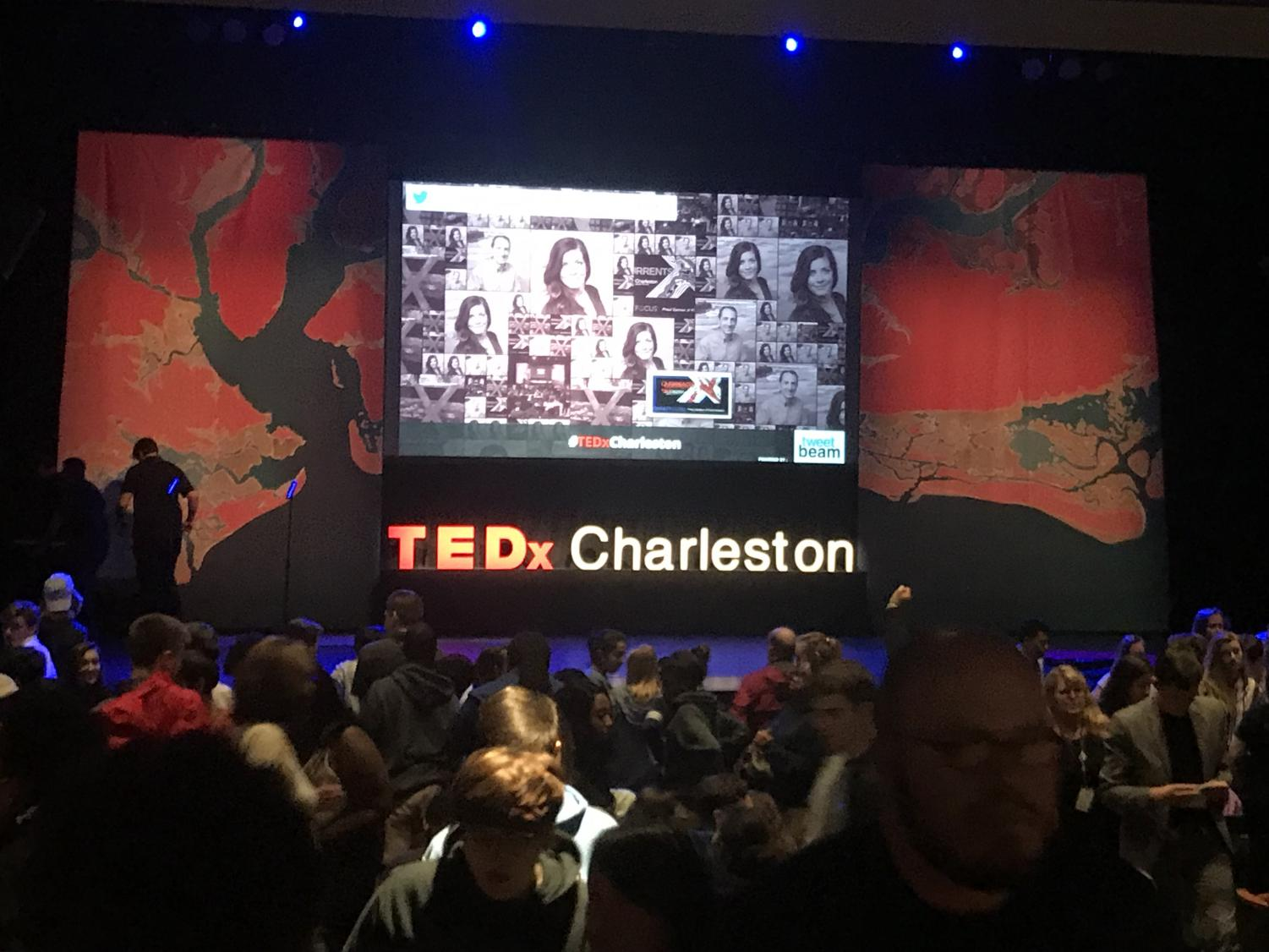 The Charleston Music Hall set up for Charleston's annual TEDx event. Theme: Currents