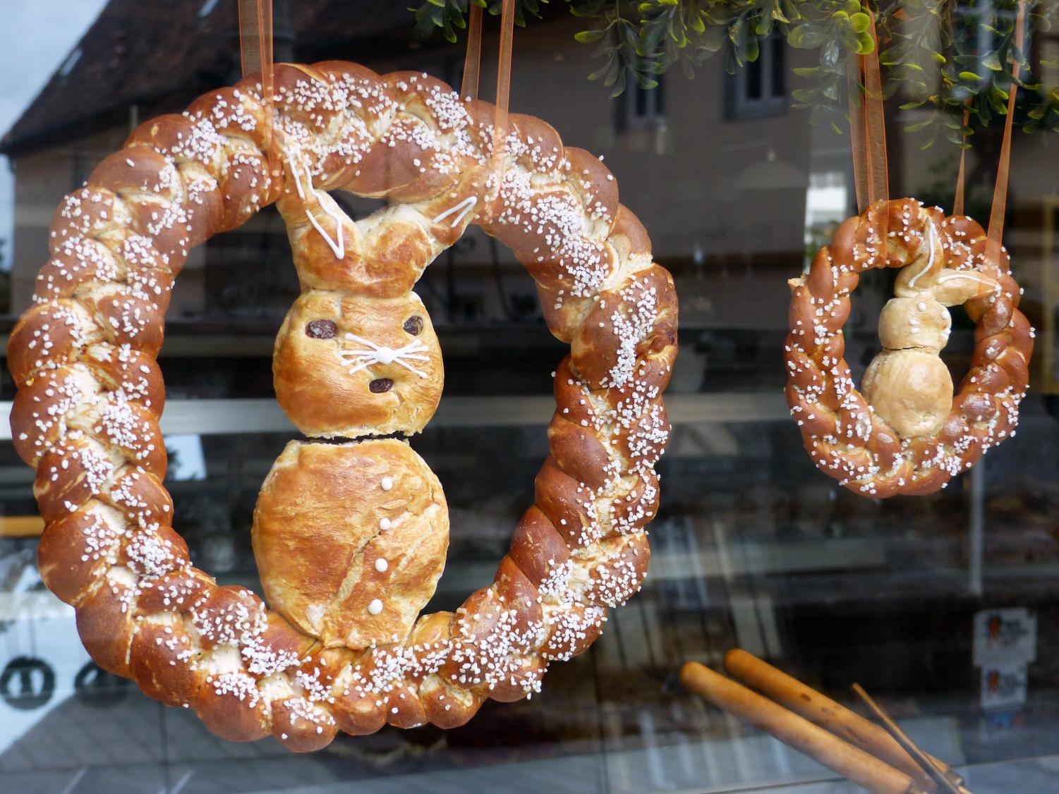 German towns are filled with decorative Easter breads known as