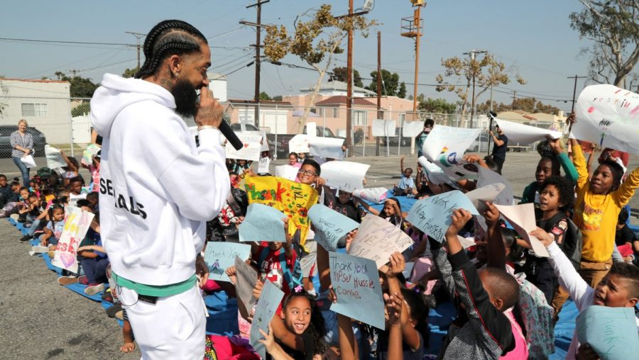 The late artist was well-known for giving back to his community in Crenshaw, California.