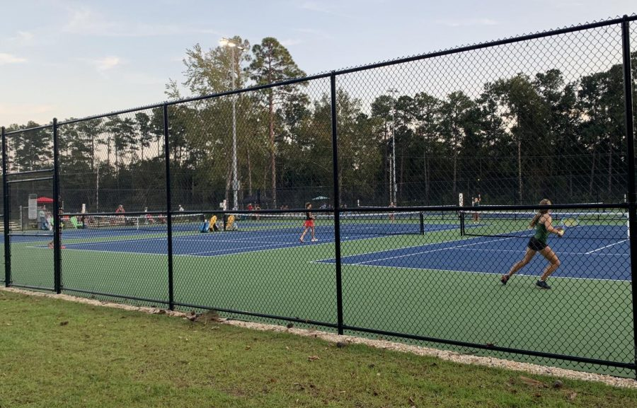 The AMHS girls tennis team takes on Waccamaw High School in its second match of the season.