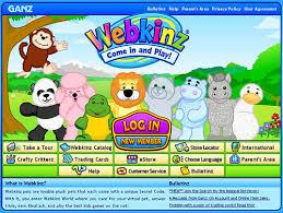 Webkinz Log In Page