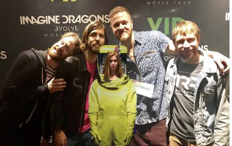 Josephine Drake (12) with her favorite band!
