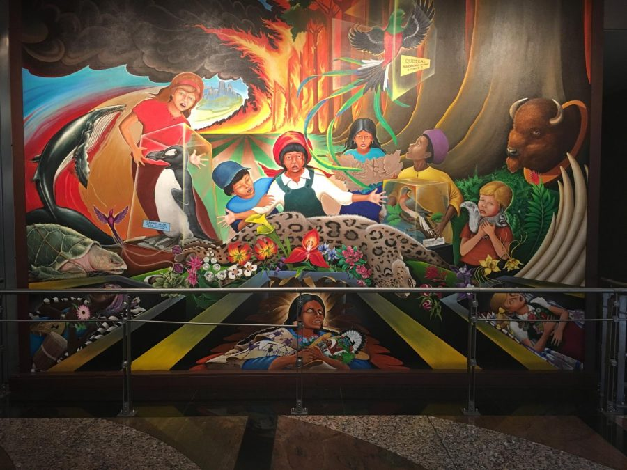 A mural in the Denver airport