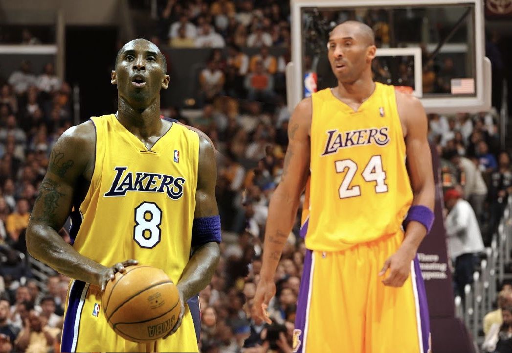 Kobe Bryant Wore both 8 and 24 During his Laker Career