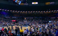 The scene just before the Thunder vs. Jazz game was postponed on 3/11