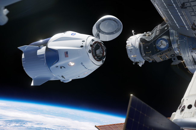 SpaceX Officially Begins Space Taxi for NASA