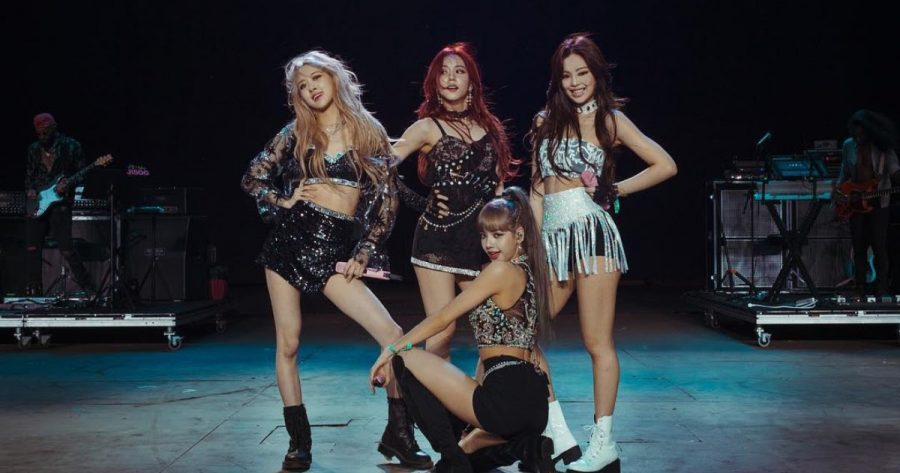 Blackpink at Coachella. From left to right: Rosé, Jisoo, Lisa, and Jennie