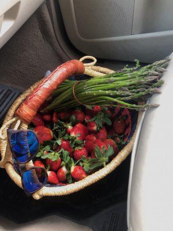 farm-fresh strawberries+asparagus