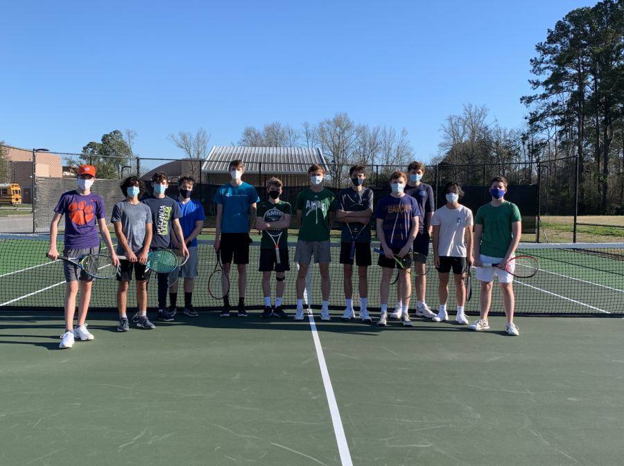 Introducing the 2021 Boys Tennis Team