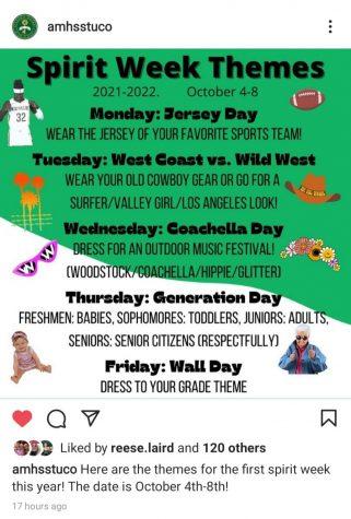 Student Guide to Spirit Week